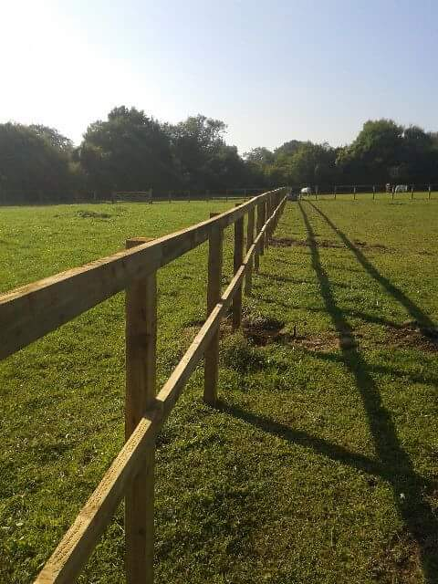 post and rail fencing in Sevenoaks Kent