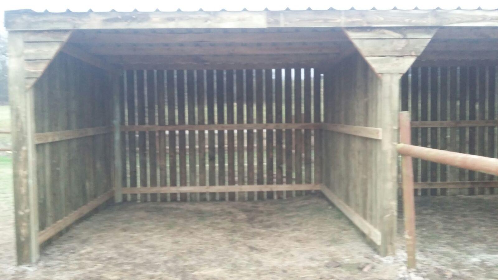 Equestrian Horse Shelter inside